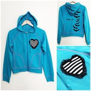 "Tops - Handmade ""Kolbi Jean"" Bats Hoodie w/ Heart Detail"